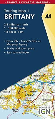 AA Road Map Brittany (AA Touring Map France 01) (AA Road Map... by AA Publishing