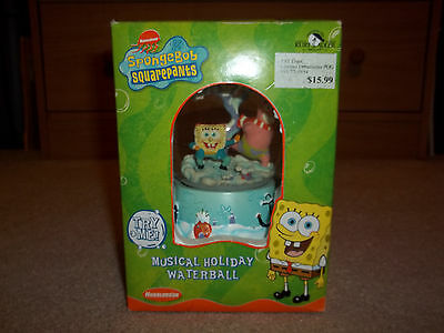 New 2003 Spongebob Squarepants Musical Holiday Waterball w Patrick Kurt S. Adler