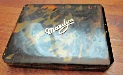 "Vitg genuine tortise shell Cigarette/card Case with ""Marilyn"" in 10K Outstanding"