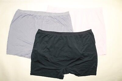 LOT OF 3 PAIR FRUIT OF THE LOOM FIT FOR ME Women's Microfiber Slip Shorts - 13