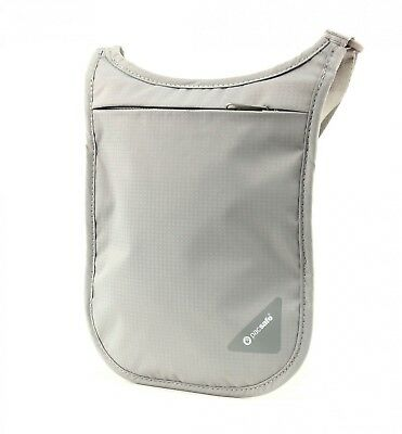 pacsafe Monedero Coversafe V75 RFID Blocking Neck Pouch Neutral Grey