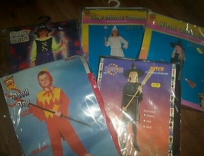 Joblot 5 Childrens Halloween Fancy Dress Costumes new