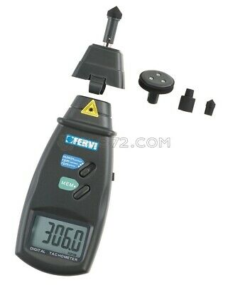 Handheld Lcd Digital Photo Optical And Contact Tachometer Rpm Tach Fervi C070
