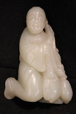 Antique Chinese Jade Carving Person Figure