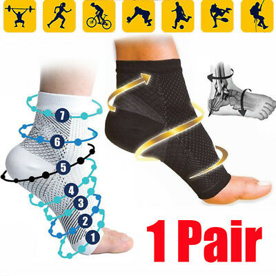 2PCS Compression Wear Foot Pro Relieves Plantar Fasciitis Heel Pain Sleeve Socks