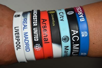 Europe's Football Club Wristband Bracelet Soft Rubber Silicon Bangle Soccer Fans