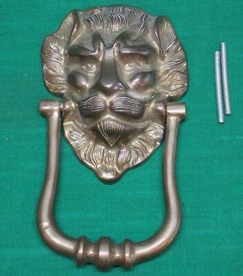 Vintage brass lion head door knocker. Heavy.