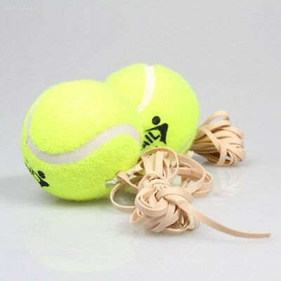Tennis Training Ball With Rubber Rope Beginners Trainer Single Train Tool 1DC7