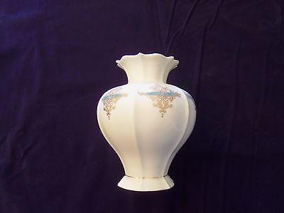 Lenox USA China Catalan Collection Vase Green & Gold on Ivory
