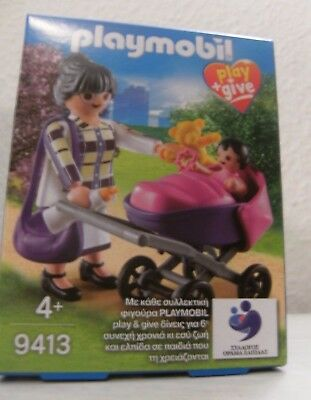 Playmobil play + give Großmutter 9413 Neu & OVP Greece Griechenland Kinderwagen