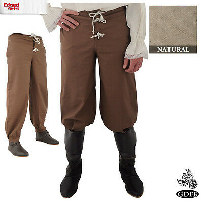 Trousers Drawstring/Button Front  - Pirate  - Larp, Fancy Dress and Cosplay