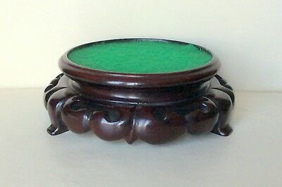 A Fine Quality Antique Chinese Hardwood Stand Inner Diameter -  Approx 4.3/4""