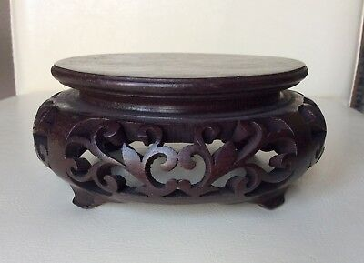 A Fine Quality Antique Chinese Hardwood Stand Display Diameter -  Approx 4.1/4""