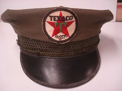 Texaco Vintage Old 1940's Gas Station Attendants Hat Excellent Condition