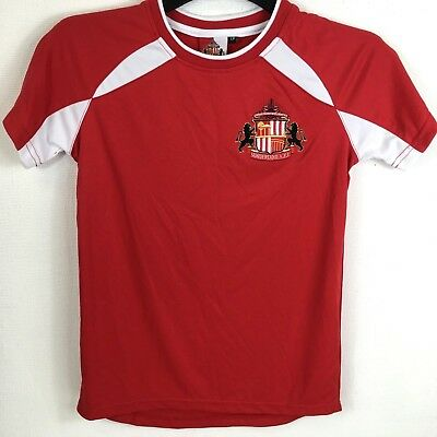 Official Sunderland FC Poly T Shirt Junior Kids 9 - 10 Yrs Red  S152-21