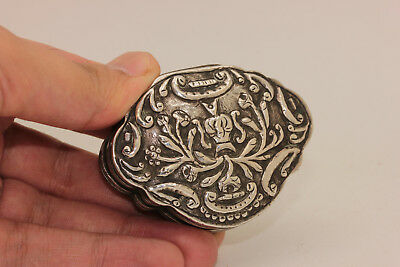 Antique Original Perfect Silver Ottoman Greek Amazing Medicine Box