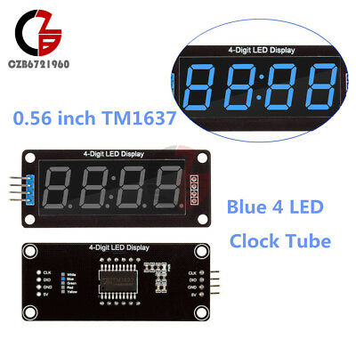 "Blue 0.56"" inch TM1637 4-Bits 8 Digital LED Display Clock Tube for Arduino"