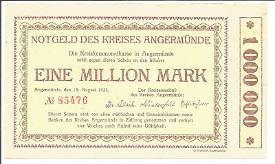 Kreis Angermünde,1 Million Mark 1923