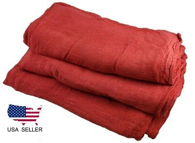 24 new industrial shop rags / cleaning towels red large 14x14 ga towel brand