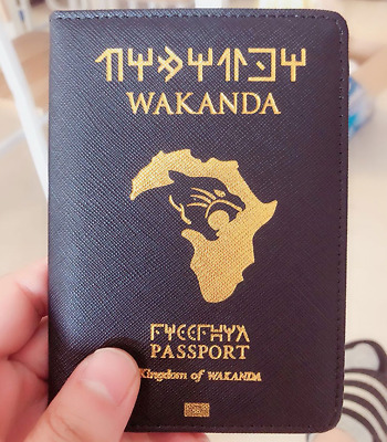 Marvel Wakanda Passport Case Cover Holders (Goldr print ID Holder)