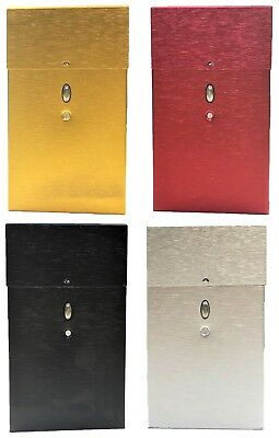 Eclipse Durable Metallic Crushproof Aluminum Cigarette Case, 100s, 3119PO