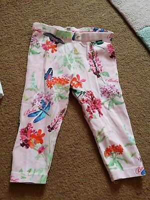 Ted Baker 9-12 Months Baby Girls Pink Floral Leggings Trousers Bottoms