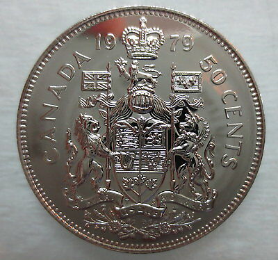 1979 Canada 50 Cents Proof-Like Half Dollar Coin