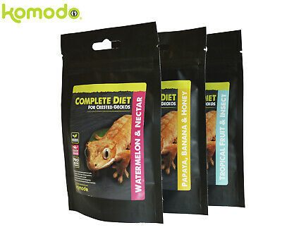 *new* Komodo Complete Crested Gecko Diet Food 60G - Similar To Pangea 3 Flavours