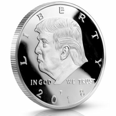 BUY 2 GET 1 FREE ! Donald Trump 2018 Silver Challenge Coin 40 MM Proof