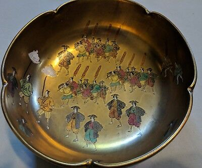 FINE QUALITY ANTIQUE JAPANESE SATSUMA BOWL WITH FIGURES No Reserve Auction