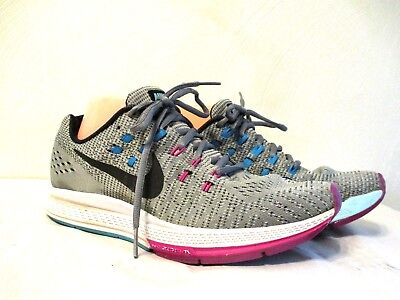 low priced a1bc7 0a387 WOMEN'S NIKE AIR Zoom Structure 19 gray/blue/pink running athletic sneaker  sz 9