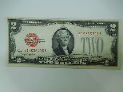 1928 G US $2 Small Size United States Note Extra Fine