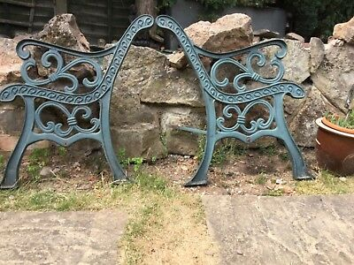 Vintage Pair Of Cast Iron Bench Ends