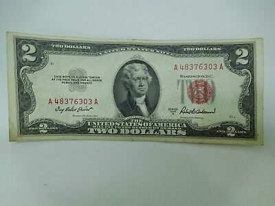 1953 A US $2 Small Size United States Note Very Fine