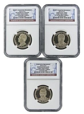 2016 NGC PF69 Early Release 3 Coin Presidential Dollar Set