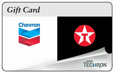 $300 Chevron Texaco Gas Gift Card Physical Unused Shipped Fast