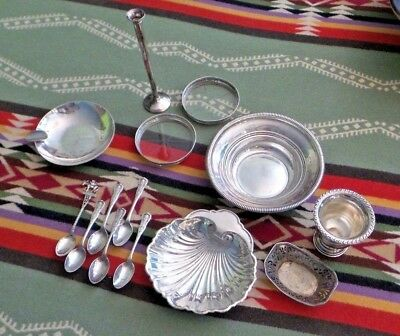 Lot Sterling Silver & 800 Silver SCRAP 14 Pieces All for $99.76