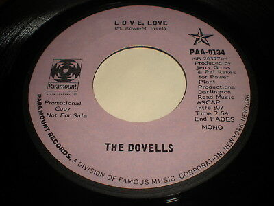 The Dovells: L-O-V-E, Love / We're All In This Together 45
