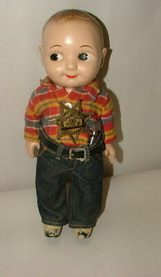 % 1950's Composition 13 Inch Tall Buddy Lee Figure In Original Outfit