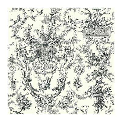 York Wallcoverings AT4237 Ashford Toiles Old World Toile Prepasted FREE SHIPPING