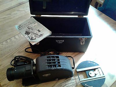 Antique Argus Slide Projector With Box And Book