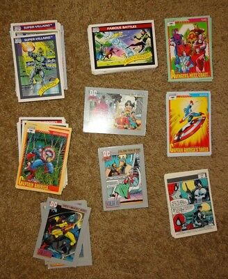 Mixed Lot Of Marvel And Dc Comics Trading Cards - Most Dated 1990 - 91