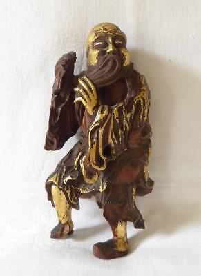 Antique 18Th / 19Th Century Chinese Root Carving An Elderly Sage Poss Shou Hao