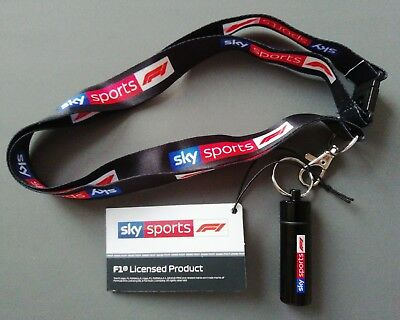 Official Sky Sports F1 Black Lanyard With Ear Plugs Canister New Formula One