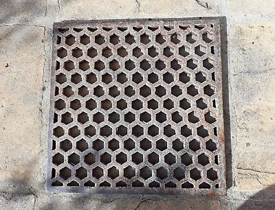 Reclaim Architectural Cast Iron Floor Grate Grill Vent Small Sq