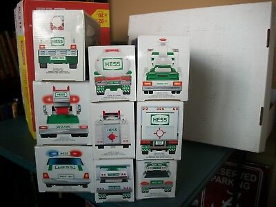 Lot of 9 Hess Toy Trucks New in Box - 1988-1996