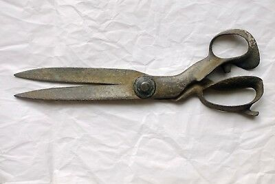 "Vintage Antique Large 14"" Tailor Scissors Sewing Leather Fabric Etc. Steampunk!!"