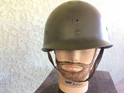 US WW2 M1 Helmet Liner with Leather chinstrap