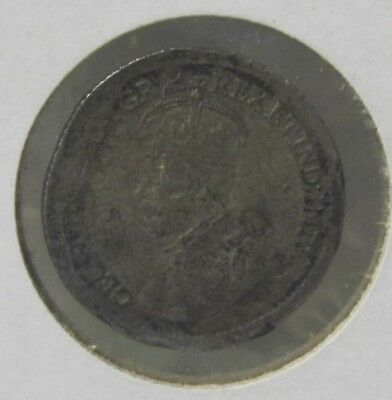 1920 Canada Five Cent Silver Coin King George V