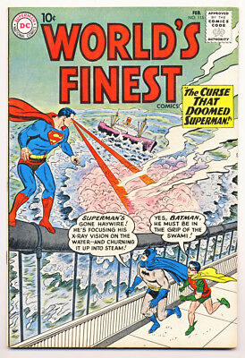 WORLD'S FINEST COMICS 1961 #115 F, Superman, Batman, Robin, DC Comics